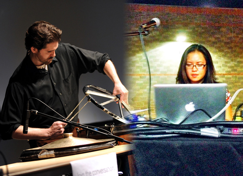 Photos of Robert Esler and Lisa Tolentino, taken at 2012 ASU Emerge Festival and the i.d.e.a. Museum in Mesa, Arizona.